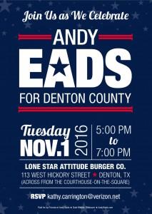 Andy Eads campaign invite 10-16