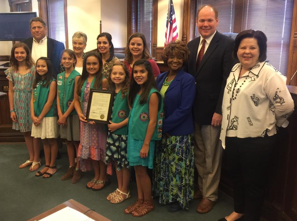 Honoring Local Girl Scout Troop